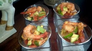 Instead of a salad I served a shrimp cocktail.
